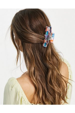 ASOS Ženy Doplňky do vlasů - Hair claw with double prong in angel butterfly print-Multi