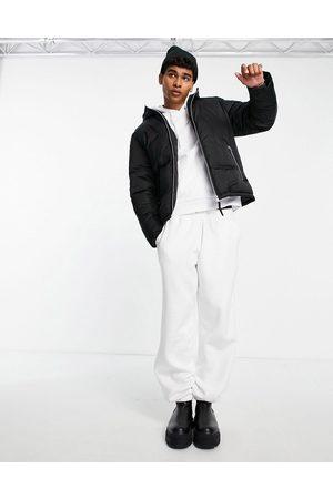 ASOS High shine puffer jacket in black