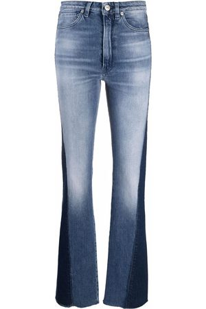 3x1 Mid-rise panelled flared jeans