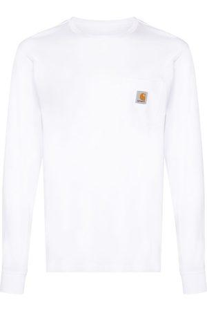 Carhartt Muži S dlouhým rukávem - Logo-patch long-sleeve T-shirt
