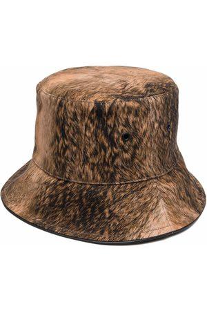 Burberry Ženy Klobouky - Fur print bucket hat