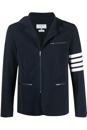Thom Browne Muži Bundy - Half-zip hooded performance jacket