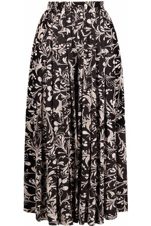 Isabel Marant Ženy Culottes - Floral-print pleated culottes