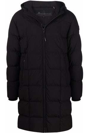Moose Knuckles Logo patch padded coat
