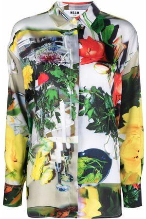 Msgm Ženy Košile - Photography print shirt
