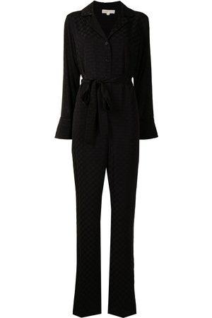 Michael Kors Jacquard-logo belted jumpsuit