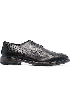 Geox Muži Oxfordky - Almond-toe leather oxford shoes