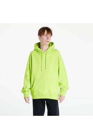 Calvin Klein Muži Mikiny s kapucí - Micro Branding Hoodie Acid Lime