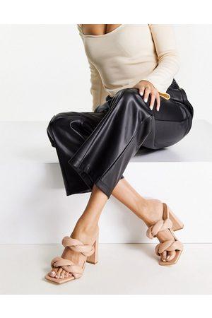 Ego Ženy S otevřenou špičkou - Waverly block heel twist sandals in beige-Neutral