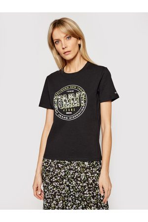 Tommy Hilfiger Ženy Trička - Dámské černé tričko Floral