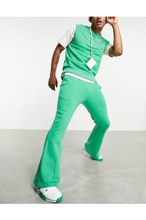 ASOS Co-ord flare joggers with pintucks in green