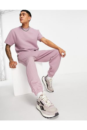 ASOS Co-ord oversized quilted joggers-Pink