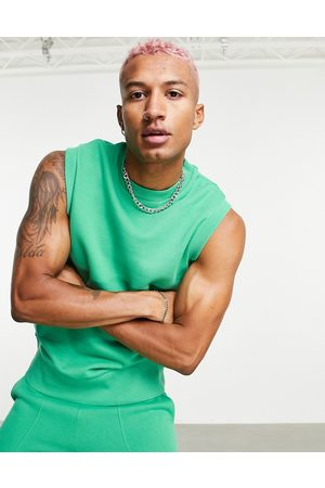 ASOS Co-ord oversized jersey vest in green
