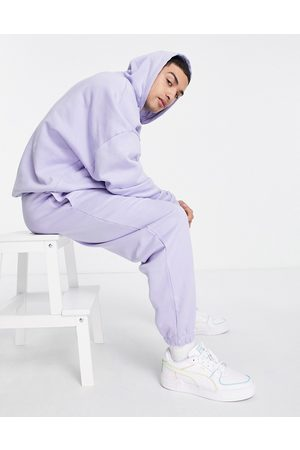 ASOS Co-ord oversized joggers in purple