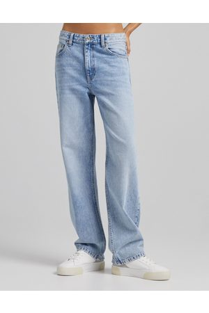 Bershka 90's baggy jean in vintage blue