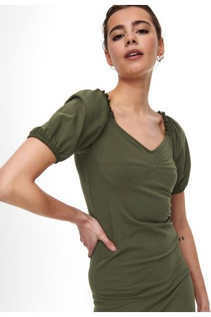 ONLY Zelené pouzdrové šaty Niff