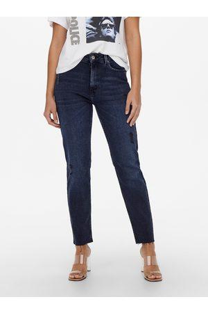 ONLY Tmavě modré straight fit džíny Emily