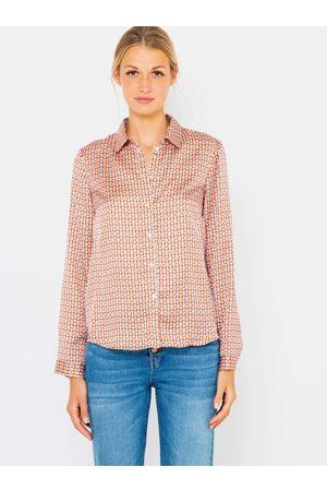 Camaïeu Červená vzorovaná saténová košile