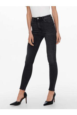 ONLY Černé skinny fit džíny Mila