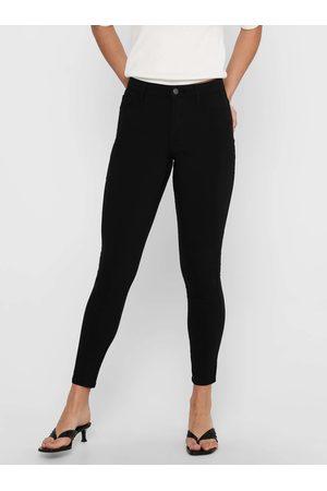ONLY Černé zkrácené skinny fit kalhoty Nanna