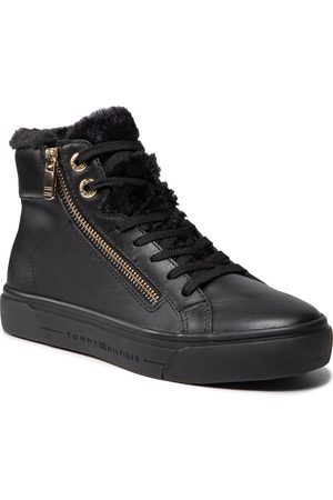 Tommy Hilfiger Ženy Polobotky - Casual Warmlined Th Mid Sneaker FW0FW05226