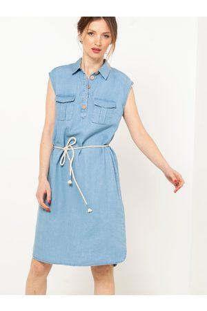 Camaïeu Světle modré džínové šaty