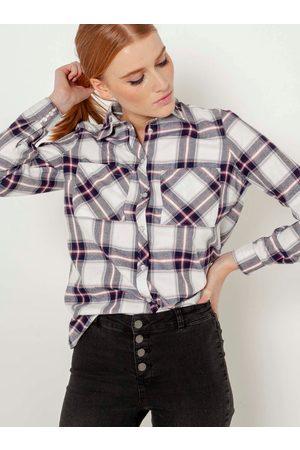 Camaïeu Modro- kostkovaná košile