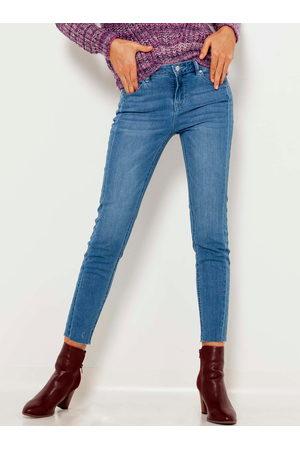 Camaïeu Modré zkrácené skinny džíny