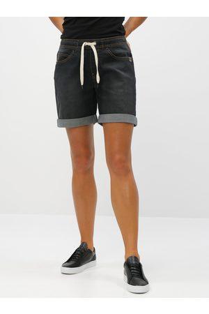 LOAP Tmavě šedé dámské džínové kraťasy Decali