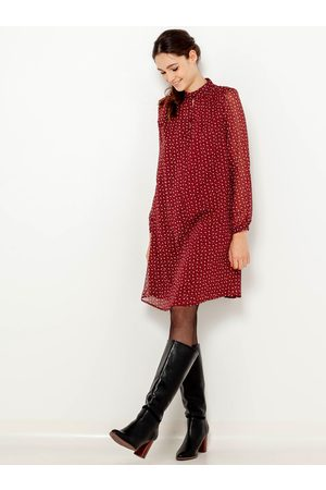 Camaïeu Červené puntíkované volné šaty