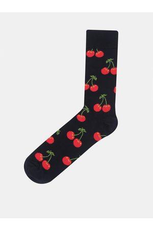 Happy Socks Tmavě modré unisex ponožky s motivem třešní Cherry