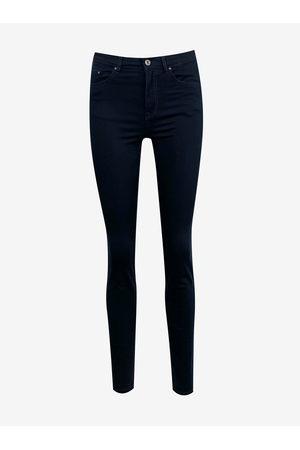 Camaïeu Tmavě modré skinny fit kalhoty