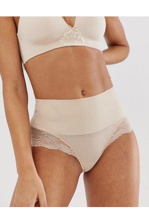 Spanx Undie-tectable lace hi-hipster in beige