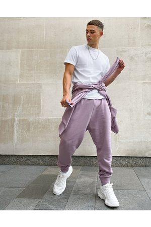 ASOS Muži Tepláky - Co-ord drop crotch joggers in pink