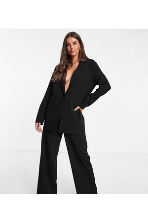 ASOS Ženy Saka - Tall jersey slouchy suit blazer in black