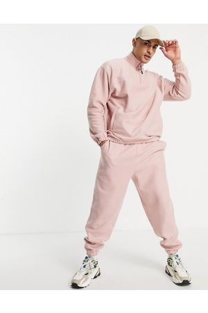 ASOS Muži Tepláky - Co-ord oversized joggers in pink fleece