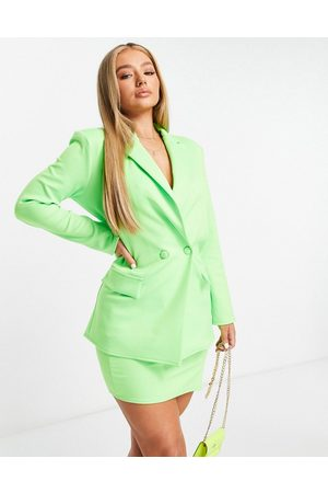 ASOS Structured jersey suit blazer in lime-Green