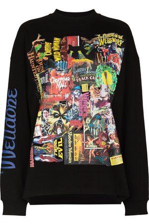 We11 Done Ženy Mikiny bez kapuce - Horror collage print sweatshirt