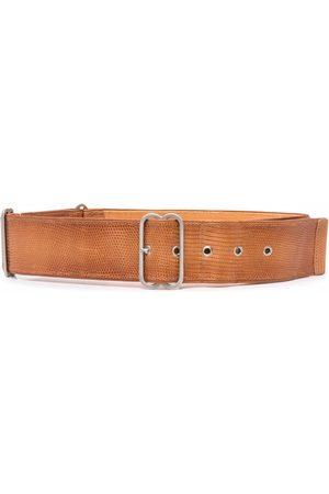 Gianfranco Ferré Ženy Pásky - 2000s snakeskin effect leather belt