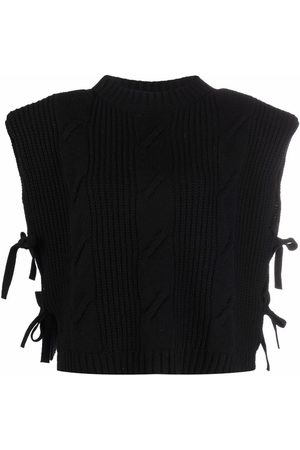 FEDERICA TOSI Ribbed-knit cropped top