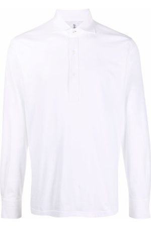 Brunello Cucinelli Muži S dlouhým rukávem - Long-sleeve cotton polo shirt