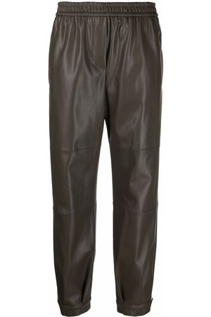NUDE Faux-leather slip-on trousers