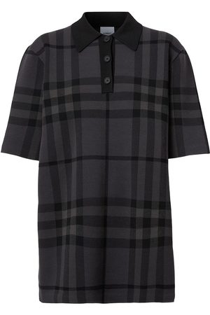 Burberry Ženy S límečkem - Check-print polo shirt