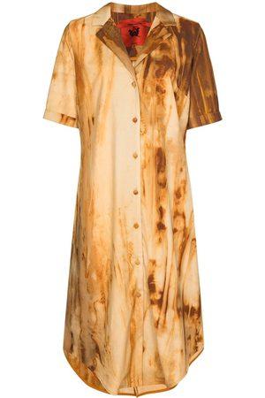 Thebe Magugu Oxide-print wool shirtdress
