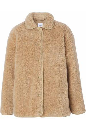Burberry Fleece-texture long-sleeve jacket