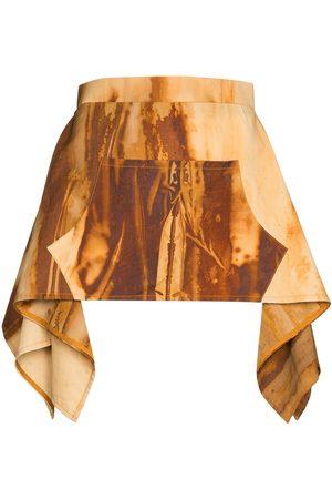 Thebe Magugu Ženy S potiskem - Oxide-print apron skirt