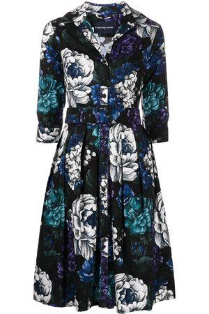 SAMANTHA SUNG Audrey abstract-print shirtdress