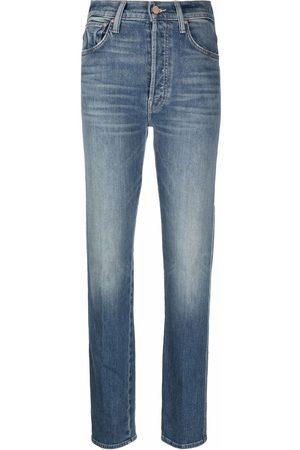 Mother Ženy Rovné nohavice - Faded straight-leg jeans