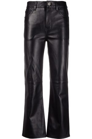 Maje High-waisted leather trousers