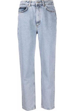 12 STOREEZ Ženy S vysokým pasem - High-rise tapered jeans